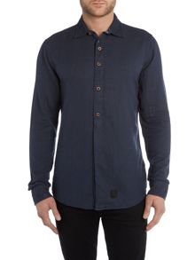 Anerkjendt Regular fit micro dot textured shirt