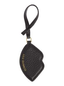 Lulu Guinness Pebble black lip bag charm