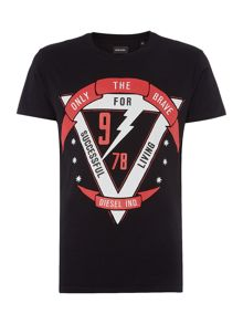 Diesel T-Diego regular fit thunderbolt print t shirt