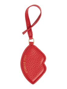 Lulu Guinness Pebble red lip bag charm