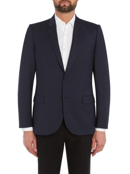PS By Paul Smith Tonal Check Suit Jacket