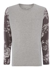 Jack & Jones Floral Long Sleeve Raglan Top