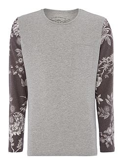 Floral Long Sleeve Raglan Top
