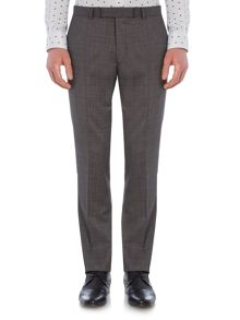 New & Lingwood Chiswick Oxford Flat Front Suit Trousers