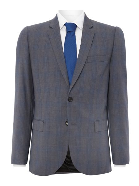 PS By Paul Smith Grey Check Suit Jacket