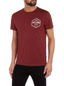 Jack & Jones Small Hexagon Logo Crew Neck T-shirt