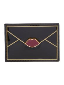 App lips black card holder