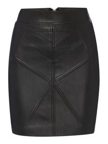 Label Lab Stitch detail pu skirt
