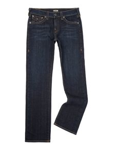 True Religion Ricky Straight Leg Contrast Stitch W/ Flap Jeans