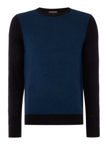 Michael Kors Regular Fit Houndstooth Wool Jumper
