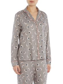 POLLY PELICAN AOP LONG SLEEVE SHIRT