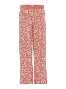 FLEURS AOP TURN UP TROUSER