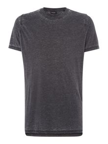 Diesel T-Markus Regular fit acid wash t shirt