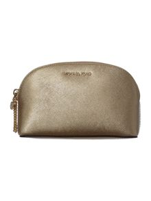 Michael Kors Alex gold cosmetic bag