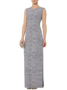 Biba Glitter metallic column maxi dress