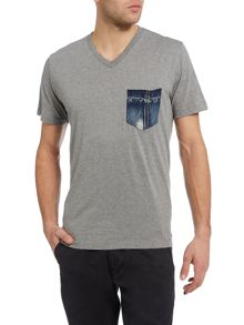 Diesel T-Bascon Regular fit one pocket t shirt