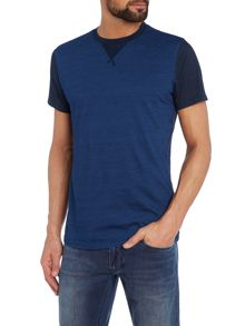 Diesel T-alcor Regular fit colour block t shirt