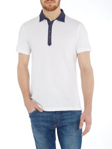 T-angie Regular fit contrast plackett polo shirt
