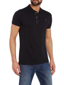T-Kalar Regular fit zip plackett polo shirt