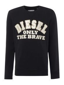 S-Joe Only the brave embroidered sweatshirt