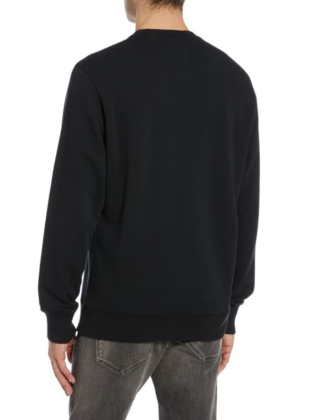 Diesel S-Joe Only the brave embroidered sweatshirt