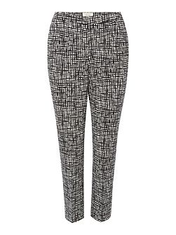 Linea Printed cotton sateen trouser