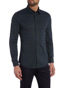 Diesel S-Lep Regular fit paisley print shirt