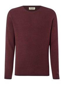 Fine Knit Crew Neck Long Sleeve Jumper