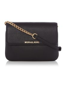 Michael Kors Bedford black double gusset cross body bag