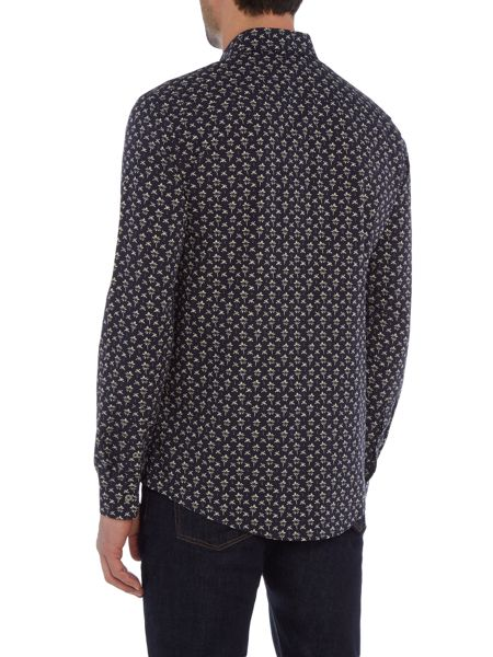 PS By Paul Smith Long Sleeved Palm Print Shirt