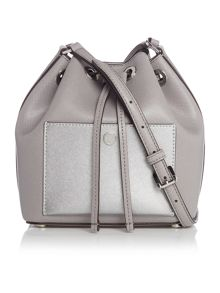 Michael Kors Greenwich grey bucket bag