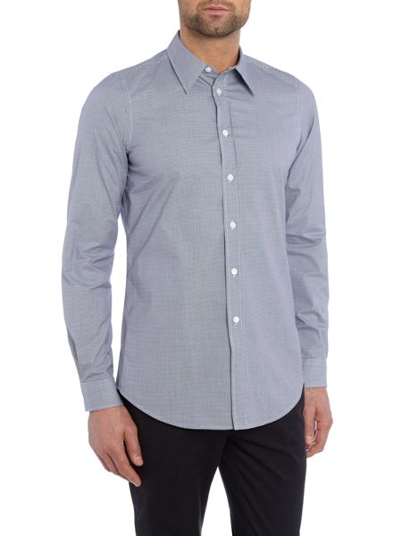 PS By Paul Smith Slim Navy Gingham Shirt