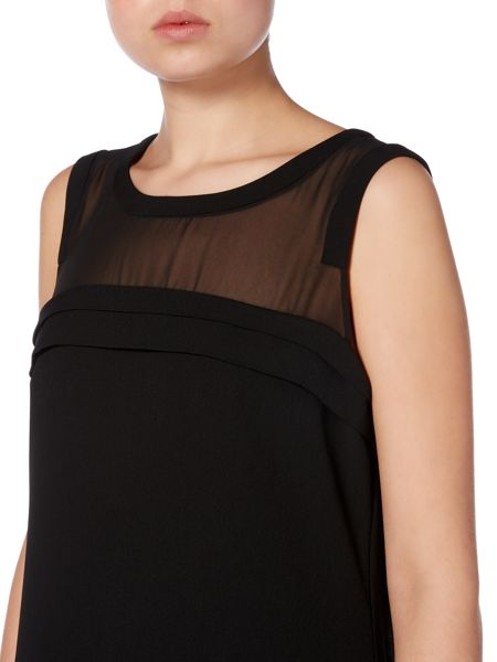 Vince Camuto Feather trim dress