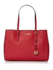 Michael Kors Jetset travel red tote bag