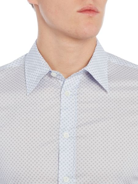 PS By Paul Smith Slim Squares Shirt