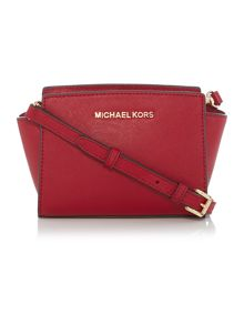 Michael Kors Selma red mini cross body bag
