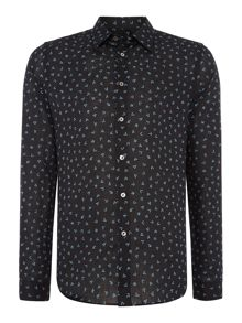 PS By Paul Smith Slim Linen Print Shirt