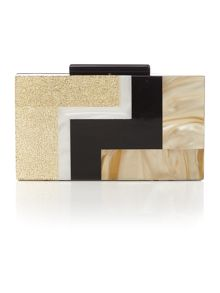Biba Retro elongated box clutch