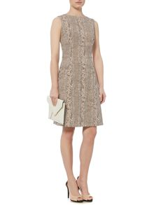 Linea Stasi snake print fit and flare dress