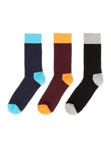 Happy Socks 3 pack plain socks