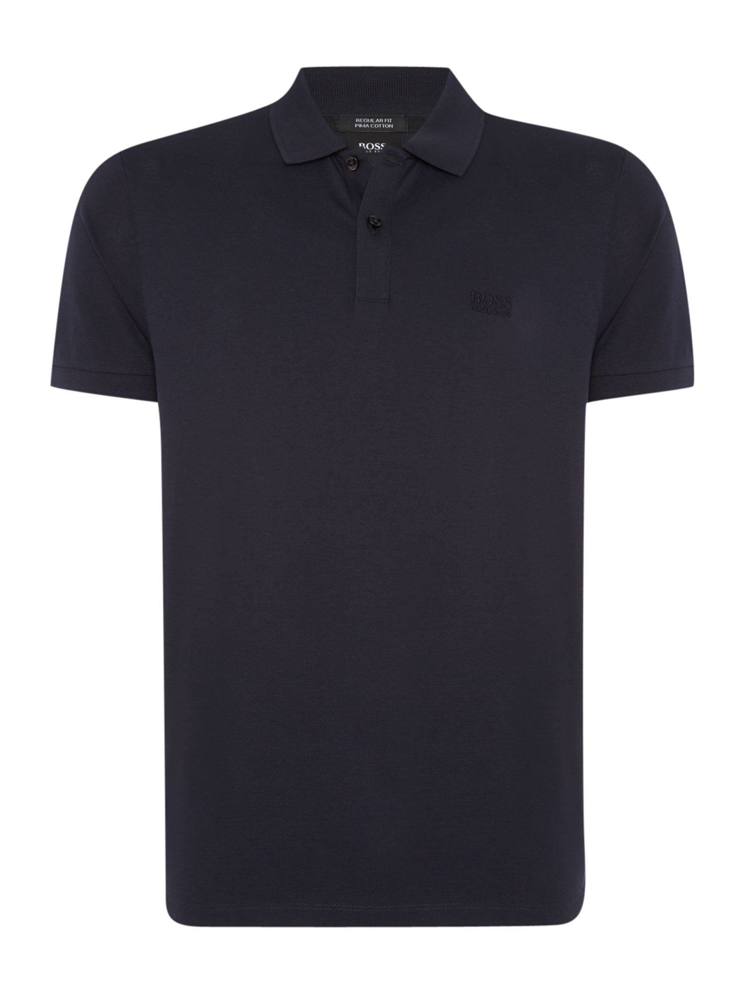 Men's Hugo Boss Pallas regular fit short sleeve logo polo shirt, Blue