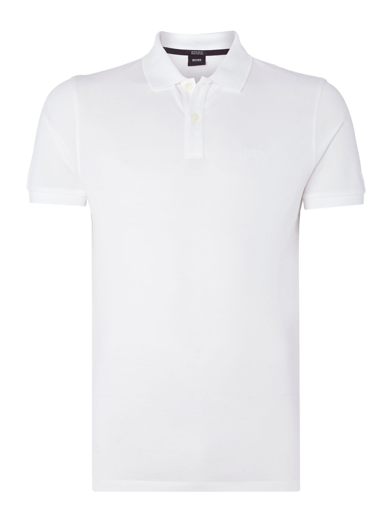 Men's Hugo Boss Pallas regular fit short sleeve logo polo shirt, White