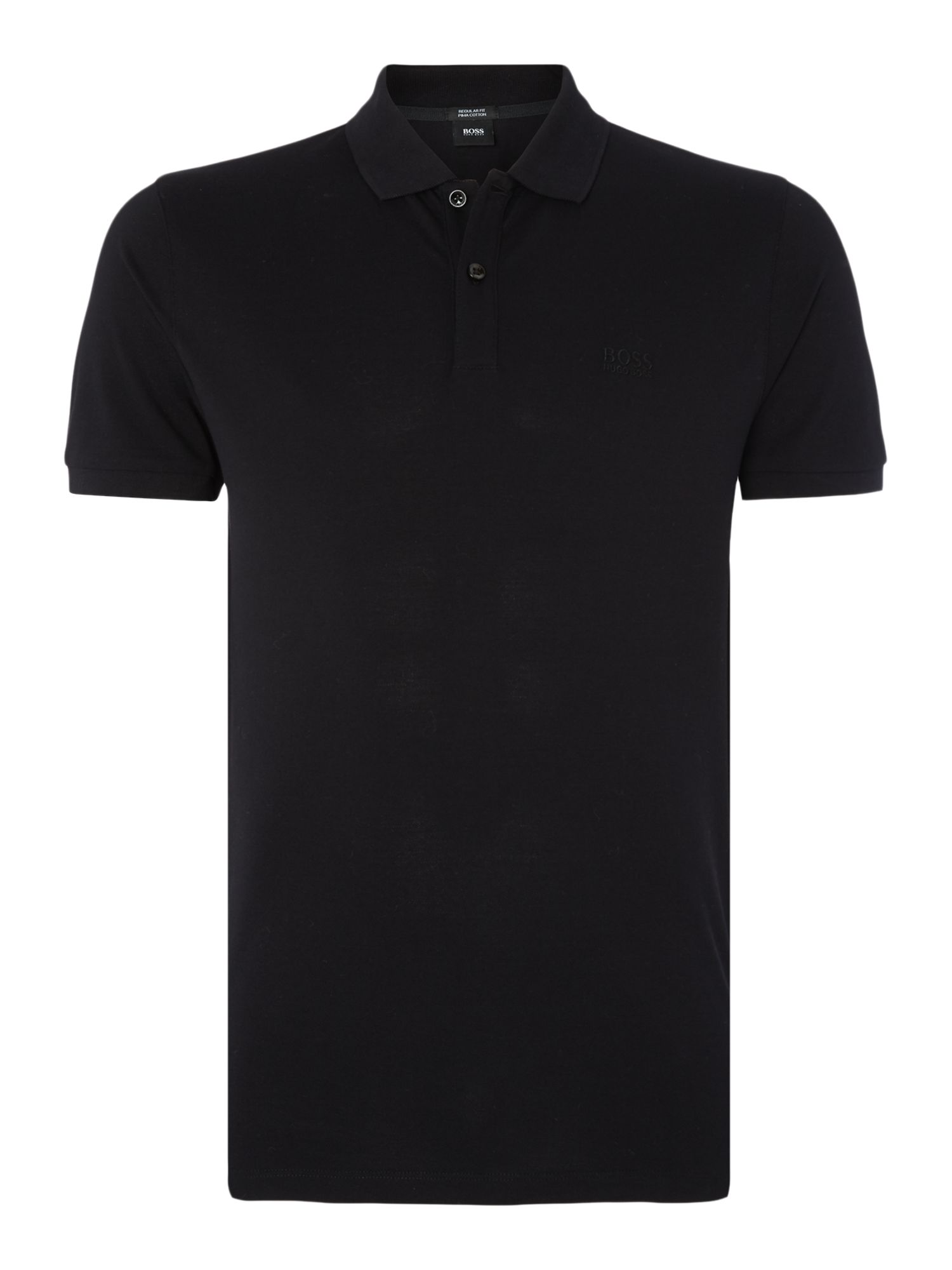 Men's Hugo Boss Pallas regular fit short sleeve logo polo shirt, Black