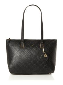 Charlotte black medium shoulder tote bag