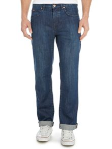 Hugo Boss Kansas regular fit mid wash jean
