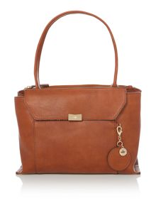 Nica Cayleigh tan medium shouder tote bag