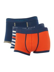 Ted Baker 3Pk Britlie plain and print trunks