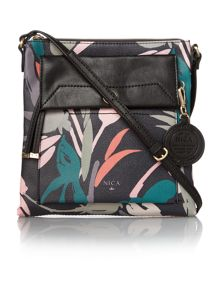 Isabella multi coloured medium cross body bag