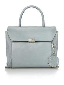 Clio blue medium flap over tote bag