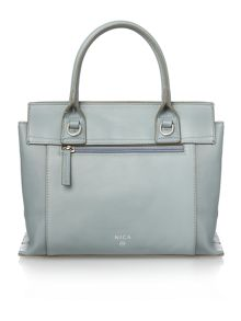 Nica Clio blue medium flap over tote bag